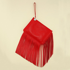 Fringe Clutch Passione Red