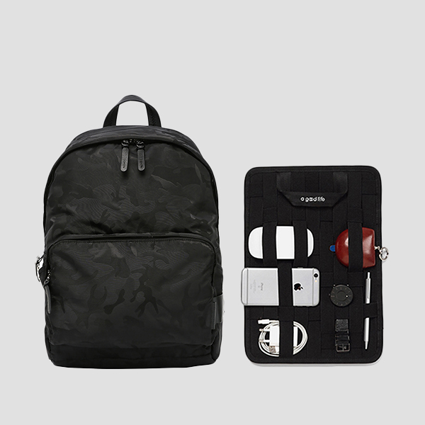 Ultra Backpack L Camouflage Black(+Organizer)