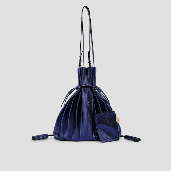 Lucky Pleats Shopper Cracked Blue