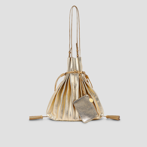 Lucky Pleats Shopper Cracked Gold