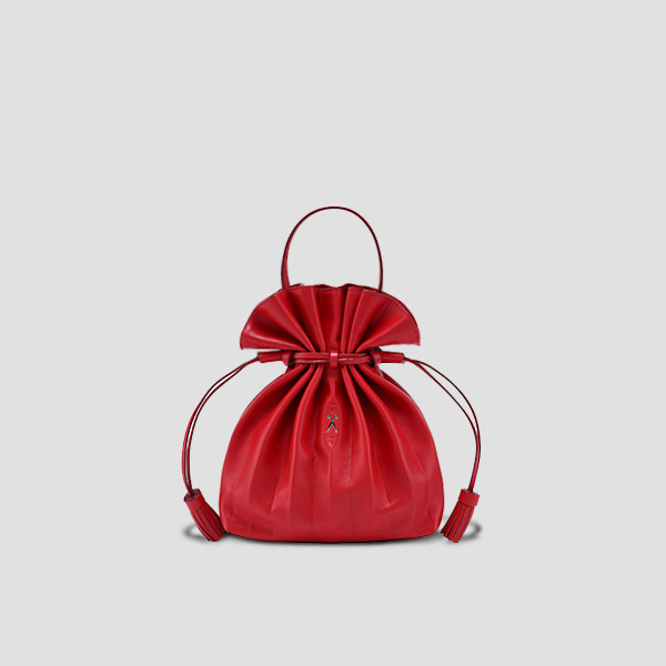 Lucky Pleats Crossbag Barbados Red