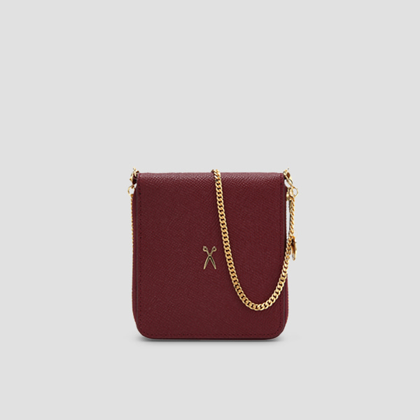 Easypass OZ Wallet Bolt With Chain Winger Wine