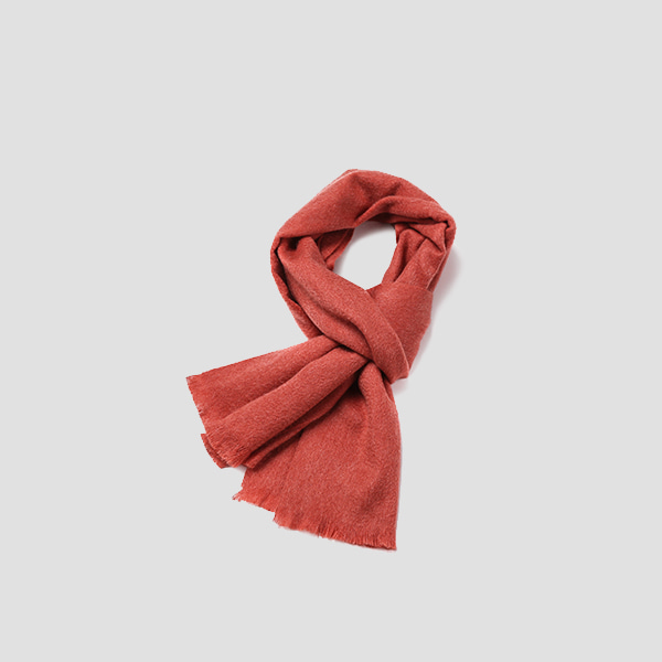 Cashmere Muffler Mineral Red