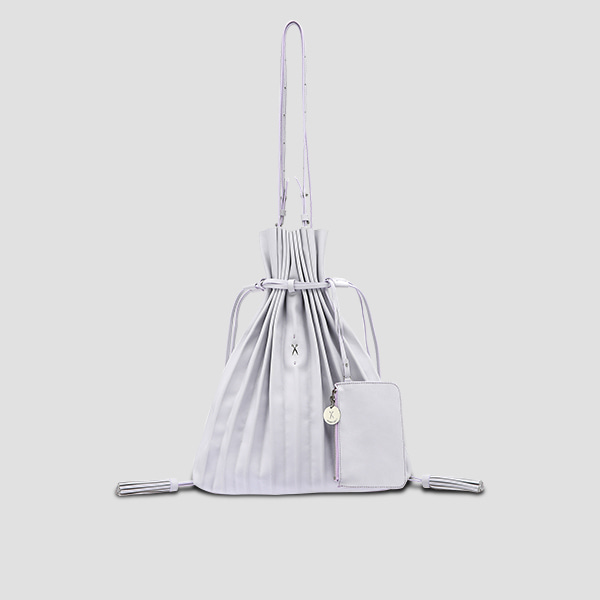 Lucky Pleats Shopper Light Purple