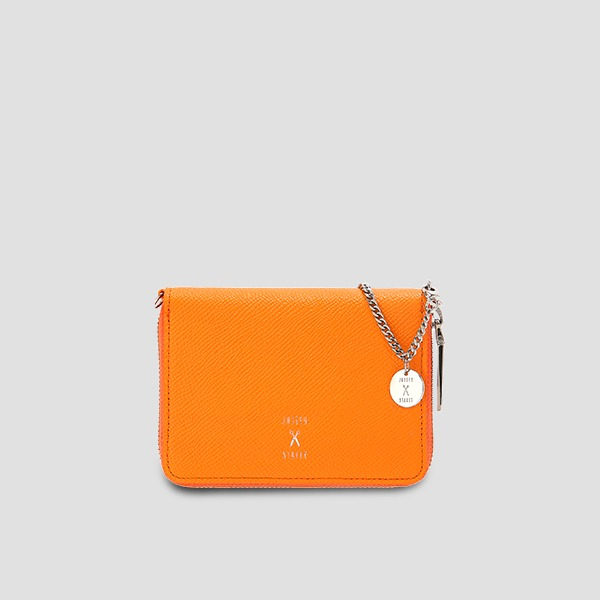 Easypass OZ Card Wallet With Chain Electric Orange