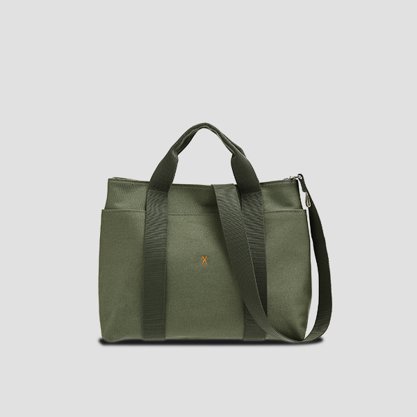 Stacey Daytrip Tote Canvas M Khaki