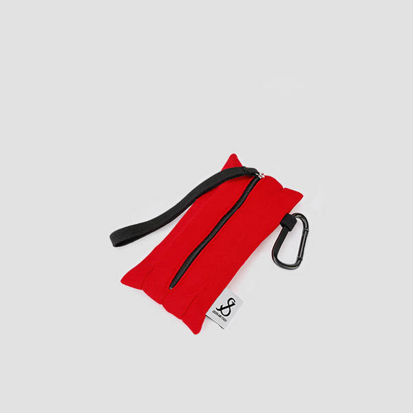 Lucky Pleats Pouch Slim Chroma Red