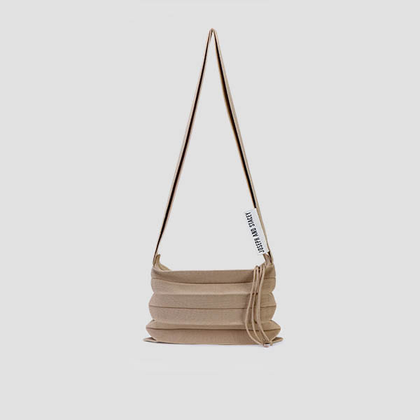 Lucky Pleats Knit Crossbag Hazelnut Beige