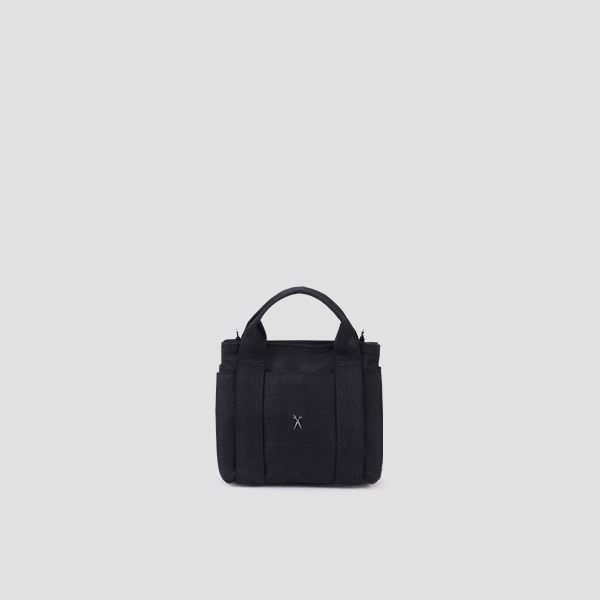 Stacey Daytrip Tote Canvas Mini Coated Black