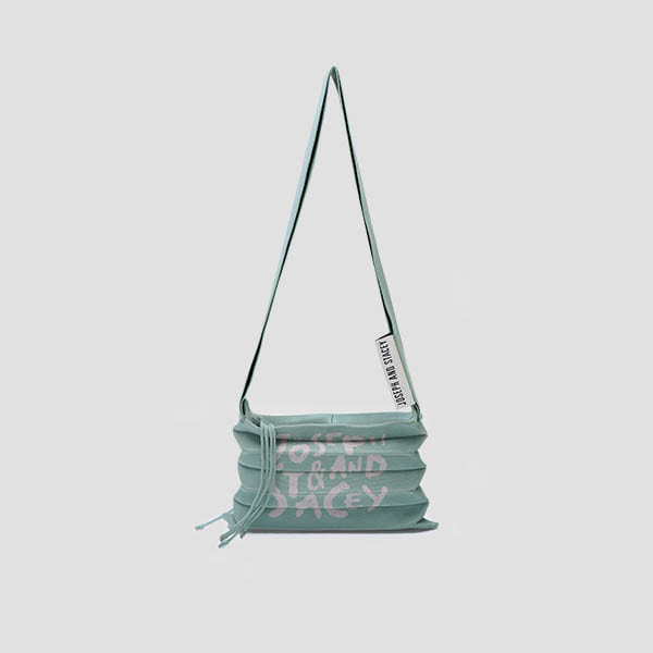 Lucky Pleats Knit Crossbag Graffiti Basil