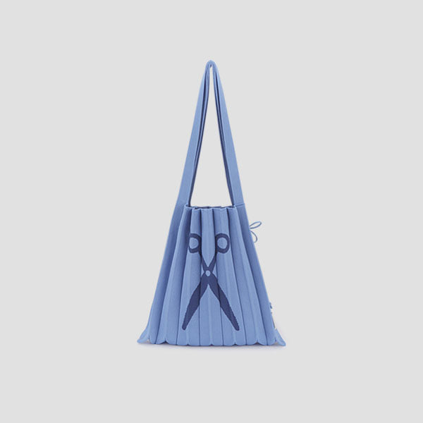 Lucky Pleats Knit JAS M Ceramic Blue