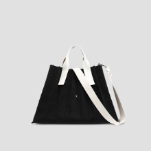 Lucky Pleats Canvas L Black_Ivory